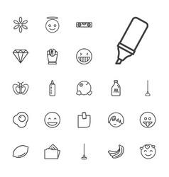 22 yellow icons vector
