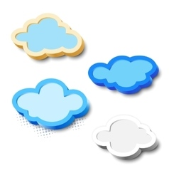 3d cloud frames vector image
