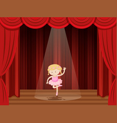 a girl perform ballet on stage vector image