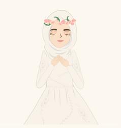 A muslim bride vector