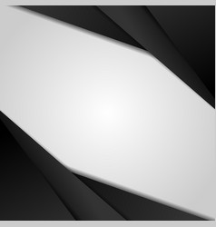abstract black modern overlap dimension on white vector image