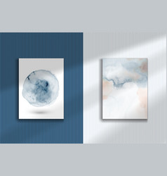 Abstract creative watercolor hand-painted set vector