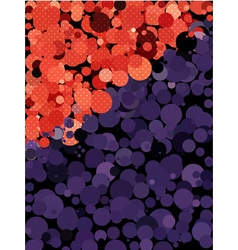 Abstract dot texture with red and purple circle vector image