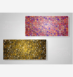 Abstract various colorful header set collection vector