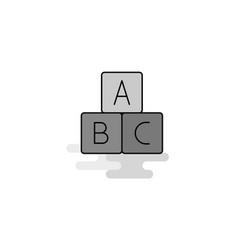 alphabets blocks web icon flat line filled gray vector image