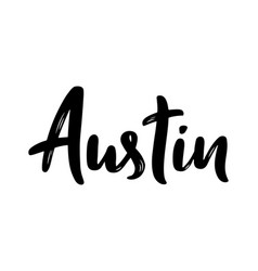 Austin texas hand-lettering calligraphy vector