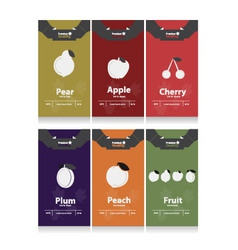 autumn fruits labels vector image
