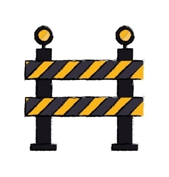 Barrier restricted street stripe design drawing vector