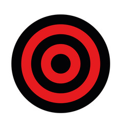 Black and red target hunting shooting sport or vector