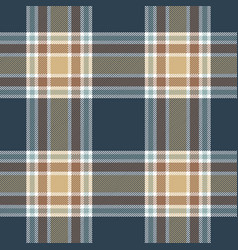Blue beige tartan plaid scottish pattern vector