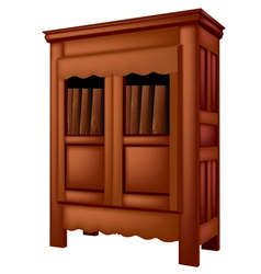 Bookcase antique vector