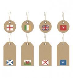 british isles flag tags vector image