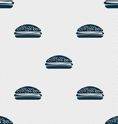 Burger hamburger icon sign Seamless pattern with vector image