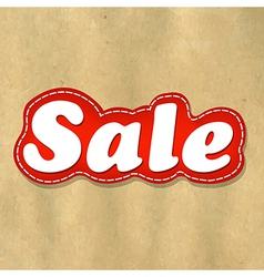 Cardboard Structure Label Sale vector image