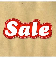 Cardboard Structure Label Sale vector image