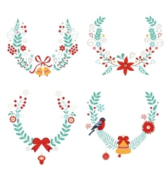 Christmas laurels vector image