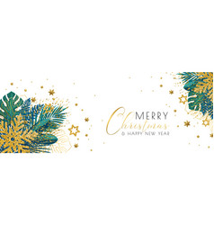 christmas tropical banner vector image