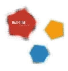 color halftone design elements vector image