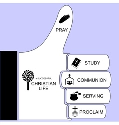 components for a successful Christian life vector image