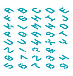 decorative monospaced font from plastic vector image