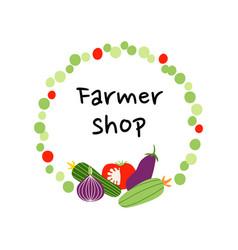design for farmer shop vector image