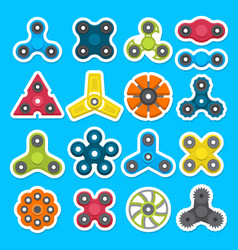 different colored spinners vector image