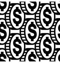 Dollar icon sign seamless pattern vector