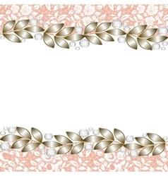 Elegant jewelry border vector