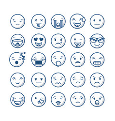 Emoticons faces design vector