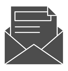 envelope and letter solid icon document vector image