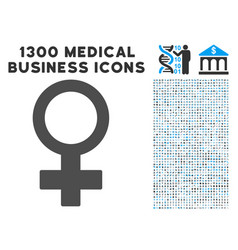 female symbol icon with 1300 medical business vector image