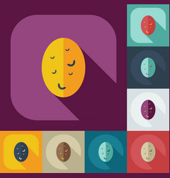 Flat modern design with shadow icons potatoes vector