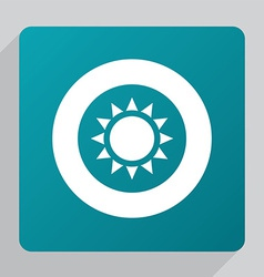 Flat sun icon vector