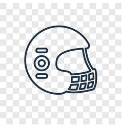 football helmet concept linear icon isolated on vector image