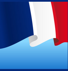 french flag wavy abstract background vector image