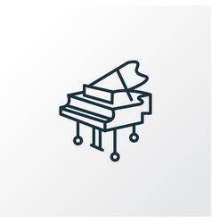 Grand piano icon line symbol premium quality vector