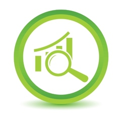 Green Graph scan icon vector