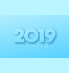 happy new year 2019 on blue background vector image