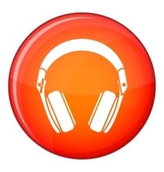 Headphones icon flat style vector