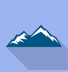Hiking mountain icon flat style vector