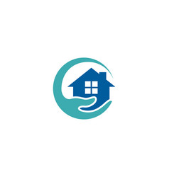 home care logo icon design vector image