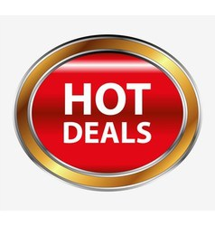 Hot deals button vector