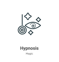 Hypnosis outline icon thin line black hypnosis vector