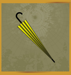 icon with a yellow and black umbrella vector image