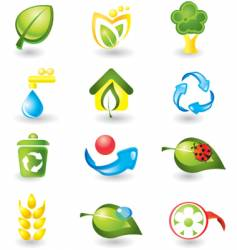 Icons nature vector