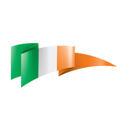 Ireland flag on a white vector