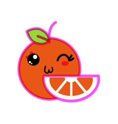 isolated orange design vector image