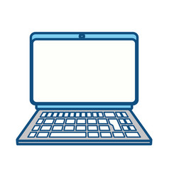 Isolated portable laptop vector