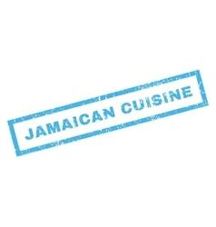 Jamaican Cuisine Rubber Stamp vector