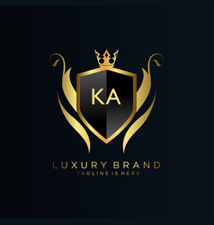 Ka letter initial with royal templateelegant vector